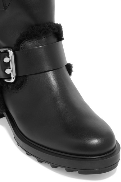 Footlocker Bilder Online Tod's Ankle Boots aus Leder mit Shearling-Besatz Großer Rabatt 2018 Günstiger Preis Shopping-Spielraum Online Billig Verkauf In Deutschland FUanb2