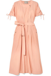 Jason Wu Belted crinkled-taffeta dress