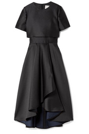 Jason Wu Draped satin-crepe midi dress