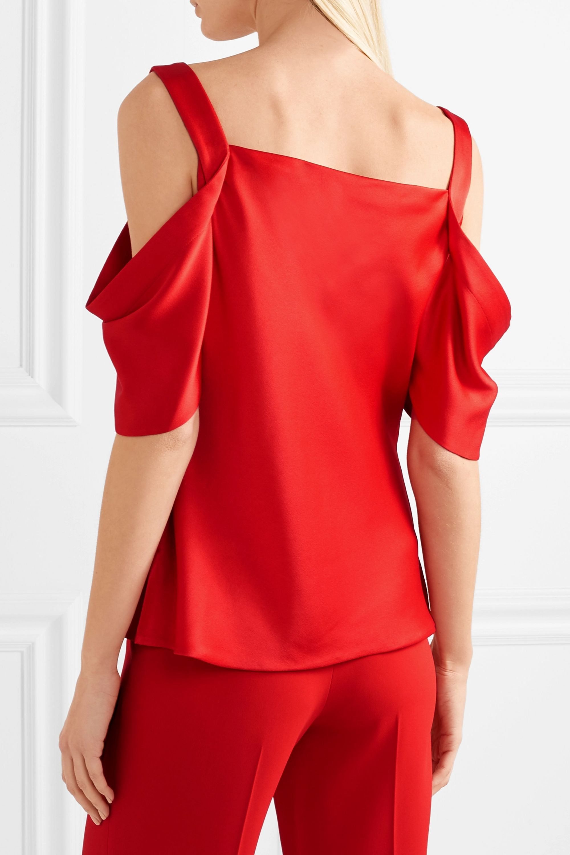 Jason Wu Collection Draped cold-shoulder satin top