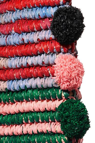 Preiswerte Neue Ankunft Verkauf Zum Verkauf Loeffler Randall Cruise Tote aus Stroh mit Lederbesätzen und Pompons Verkaufen Sind Große Neuer Stil Neue Version vliDVB