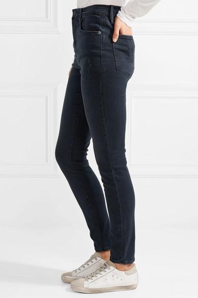 FRAME Ali hoch sitzende Skinny Jeans