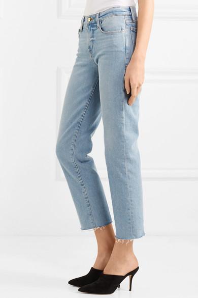 FRAME Le Nouveau halbhohe, verkürzte Jeans mit geradem Bein