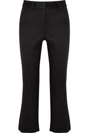 FRAME Cropped satin flared pants