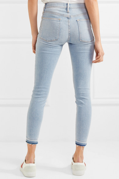 Frame Le High Skinny Jeans Shortened