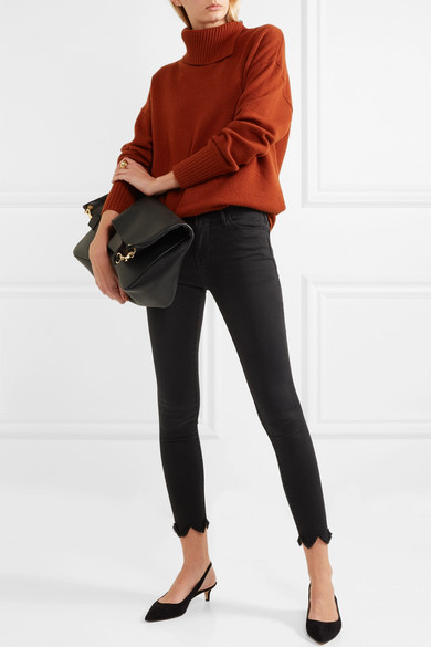 FRAME Le High Skinny Jeans mit Fransen