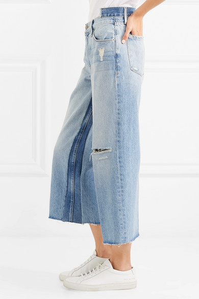 Le Reconstructed Distressed Mid-rise Straight-leg Jeans - Light denim Frame Denim For Cheap For Sale Outlet 2018 JyUuUZN7u