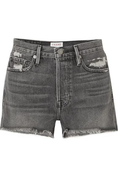 FRAME Rigid Re-Release Le Original Jeansshorts in Distressed-Optik