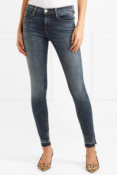 FRAME Le Skinny De Jeanne Slit halbhohe Jeans