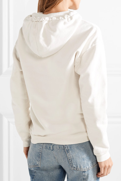 Frame Printed Oversized Hooded-uppers Of Cotton-fleece