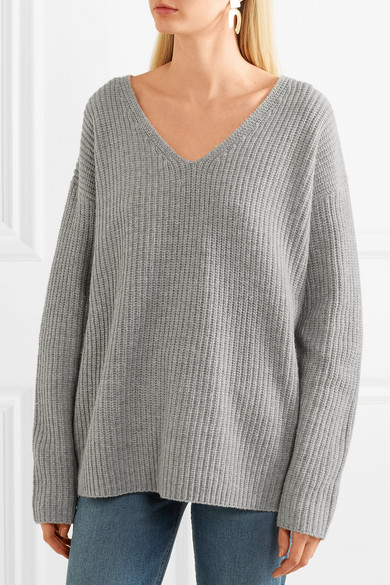 FRAME Pullover aus Rippstrick in Oversized-Passform