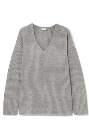 FRAME Oversized ribbed-knit sweater