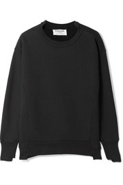 FRAME Le Mix cotton-fleece sweatshirt
