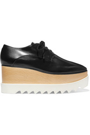 Stella McCartney Elyse faux glossed-leather platform brogues