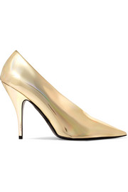 Stella McCartney Metallic faux leather pumps