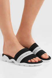 Stella McCartney Faux suede and rubber slides