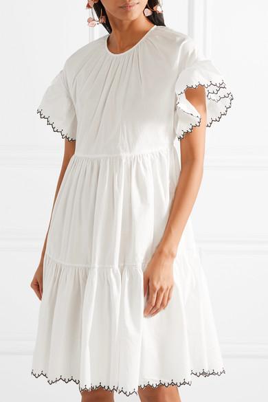 Ulla Johnson. Rosemarie embroidered cotton-poplin dress