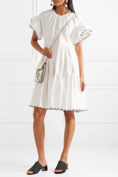 Ulla Johnson Rosemarie besticktes Kleid aus Baumwollpopeline