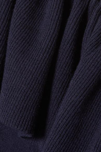Ulla Johnson Eden Pullover aus einer Baumwoll-Kaschmirmischung mit asymmetrischer Schulterpartie und Rüschen