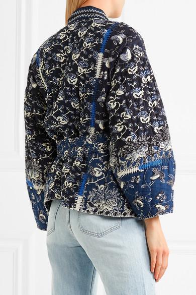 Ulla Johnson Sachi bedruckte Jacke aus einer gesteppten Baumwollmischung