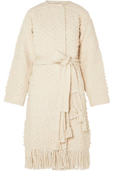 Ulla Johnson - Amara Belted Cotton Bouclé-tweed Coat - Cream