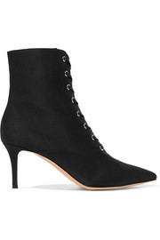 70 faille ankle boots