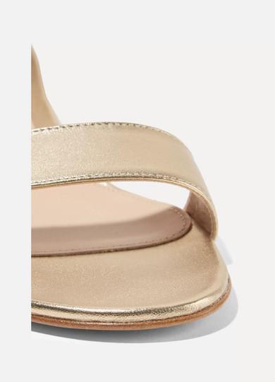 Gianvito Rossi Portofino 20 Sandalen aus Metallic-Leder