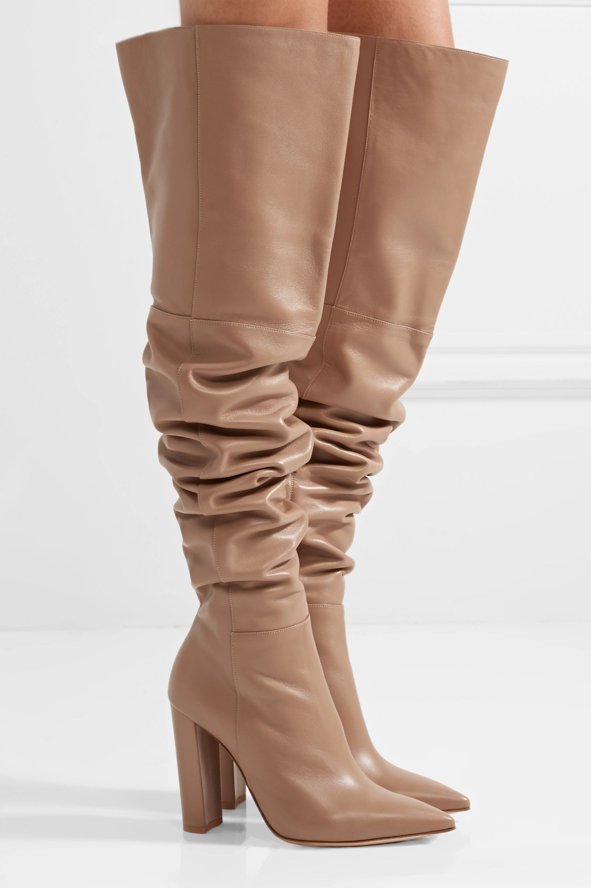 Gianvito Rossi 100 leather over-the-knee boots