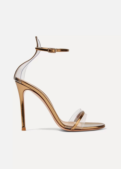 Gianvito Rossi PVC & Leather Sandals in China sale online EpSVz92