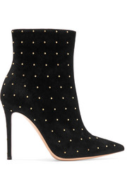 Tyler 100 studded suede ankle boots