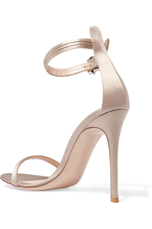 Gianvito Rossi Portofino 100 crystal-embellished satin sandals