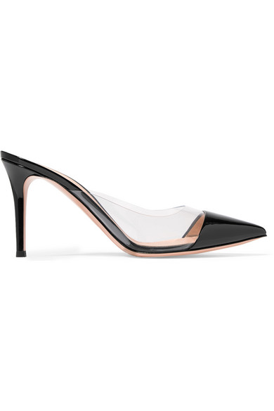 Plexi 85 Patent-Leather And Pvc Mules in Black