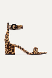 Portofino 60 leopard-print calf hair sandals