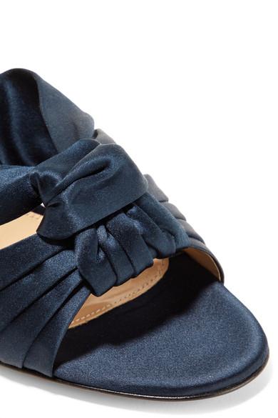 Gianvito Rossi Loren 85 Sandalen aus Satin mit Knotendetail