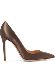 Gianvito Rossi 105 satin pumps