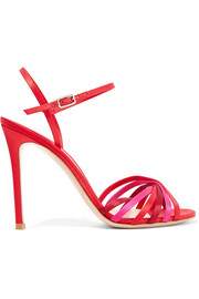 Dalida 100 color-block satin sandals