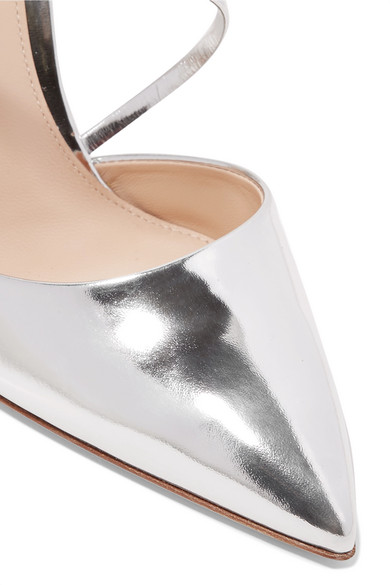 105 Mirrored-leather Mules - Silver Gianvito Rossi Factory Outlet Cheap Price hJbY5O