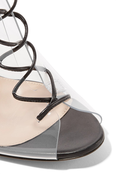 014d5466f65 Gianvito Rossi. Helmut Plexi 100 lace-up PVC and leather ankle boots. £275.  Zoom In