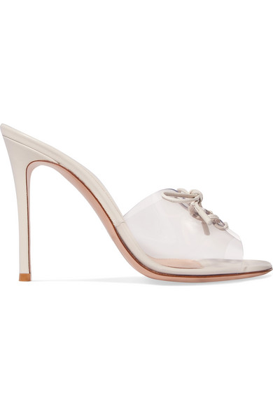 Gianvito Rossi Plexi 100 Mules Of Leather And Pvc