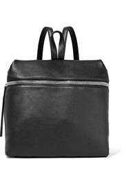 KARA Large textured-leather backpack