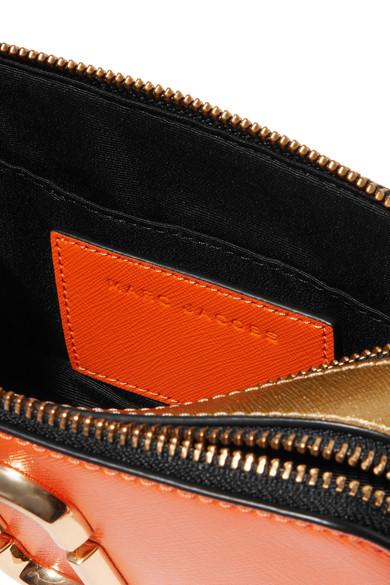 Marc Jacobs Snapshot Schultertasche aus strukturiertem Leder