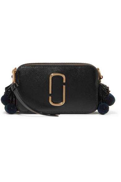 Marc Jacobs Snapshot verzierte Schultertasche aus strukturiertem Leder