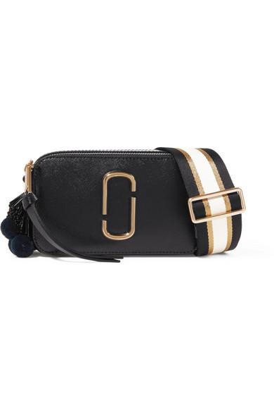 71cd48adcad9 Marc Jacobs. Snapshot embellished textured-leather shoulder bag
