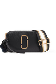 Marc Jacobs Snapshot embellished textured-leather shoulder bag