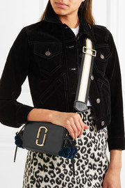 Snapshot embellished textured-leather shoulder bag
