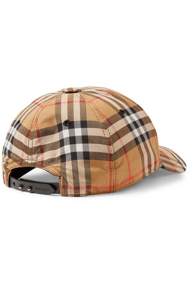 Burberry. Checked cotton-canvas baseball cap 2957a06a29