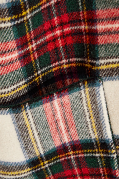 Burberry Wendbarer Poncho aus einer Wollmischung mit Tartan-Muster