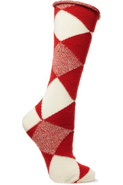 Burberry Argyle wool socks