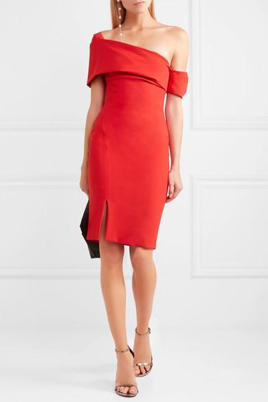 Haney Emily Kleid aus Stretch-Jersey mit asymmetrischer Schulterpartie