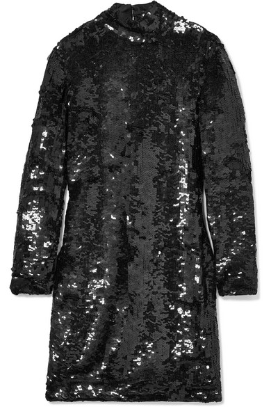 Haney JACKIE OPEN-BACK SEQUINED MINI DRESS
